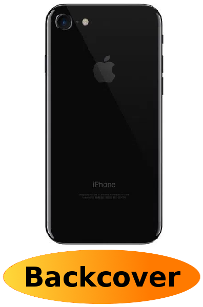 iPhone 8 Reparatur: Backcover Schwarz