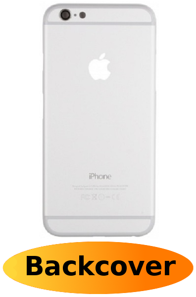 iPhone 6 Reparatur: Backcover Silber