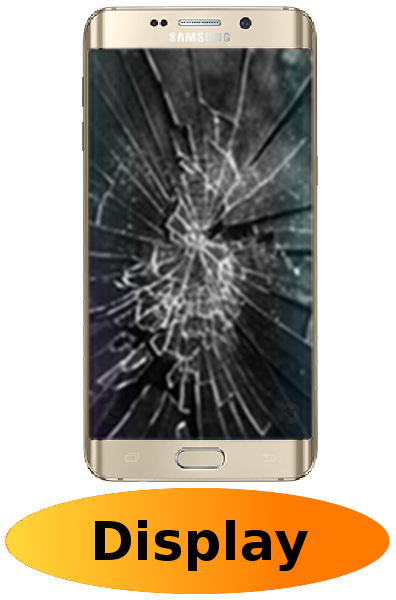Samsung S6 Edge Plus Reparatur: Glas + Touchscreen + LCD Display Gold