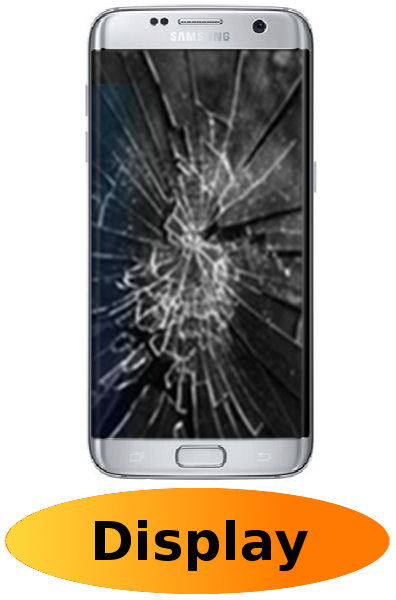 Samsung S6 Edge Plus Reparatur: Glas + Touchscreen + LCD Display Silber