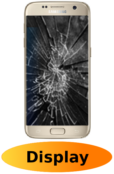 Samsung S7 Reparatur: Glas + Touchscreen + LCD Display Gold