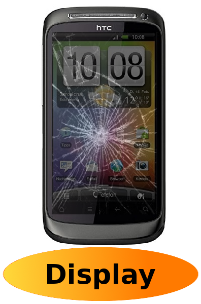 HTC Desire S Reparatur: Glas + Touchscreen + LCD Display
