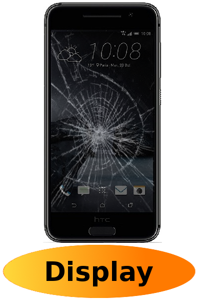 HTC One A9 Reparatur: Glas + Touchscreen + LCD Display Schwarz