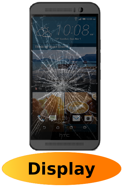 HTC One M9 Reparatur: Glas + Touchscreen + LCD Display