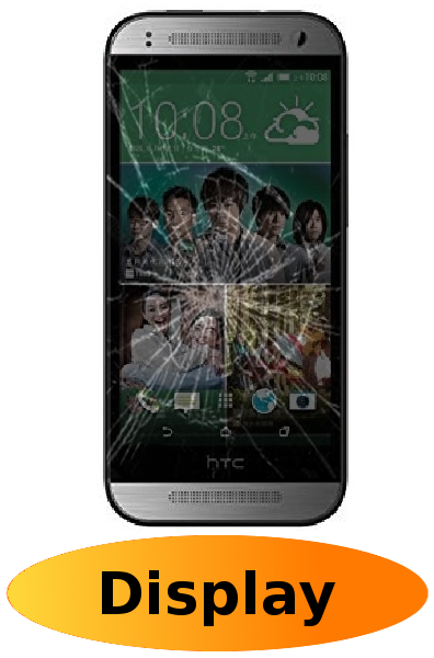 HTC One Mini 2 Reparatur: Glas + Touchscreen + LCD Display