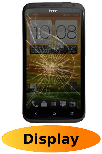 HTC One X Reparatur: Glas + Touchscreen + LCD Display