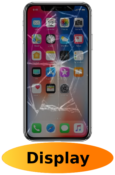 iPhone XS Max Reparatur: Glas + Touchscreen + LCD Display (OLED) Schwarz