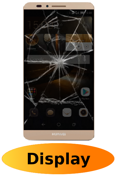 Huawei Mate 7 Reparatur: Glas + Touchscreen + LCD Display Gold