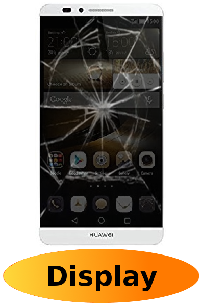 Huawei Mate 7 Reparatur: Glas + Touchscreen + LCD Display Weiß