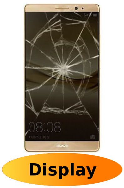 Huawei Mate 8 Reparatur: Glas + Touchscreen + LCD Display Gold
