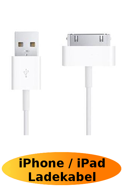 iPhone 3 & 4 / iPad Datenkabel / Ladekabel / USB Kabel